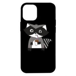 Etui na iPhone 12 Mini Embarrassed raccoon with glass