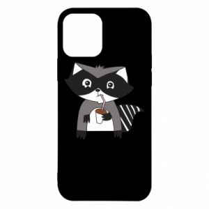 Etui na iPhone 12/12 Pro Embarrassed raccoon with glass