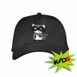 Czapeczka z daszkiem dziecięca Embarrassed raccoon with glass
