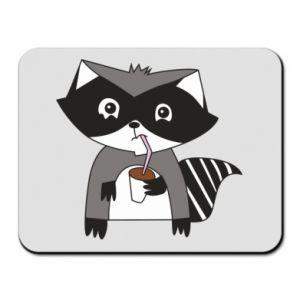 Podkładka pod mysz Embarrassed raccoon with glass