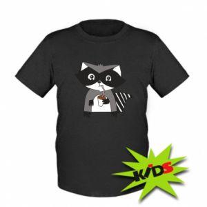Koszulka dziecięca Embarrassed raccoon with glass