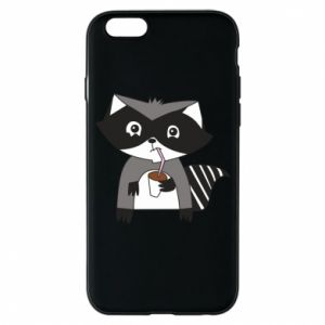 Etui na iPhone 6/6S Embarrassed raccoon with glass