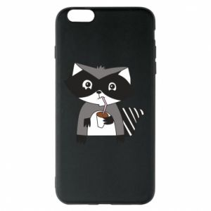 Etui na iPhone 6 Plus/6S Plus Embarrassed raccoon with glass