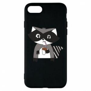 Etui na iPhone 7 Embarrassed raccoon with glass