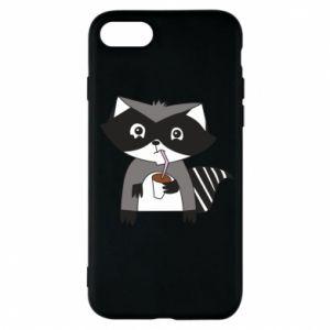 Etui na iPhone 8 Embarrassed raccoon with glass