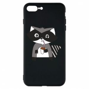 Etui na iPhone 8 Plus Embarrassed raccoon with glass