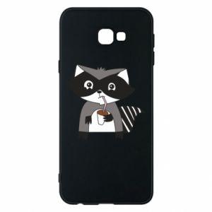 Etui na Samsung J4 Plus 2018 Embarrassed raccoon with glass