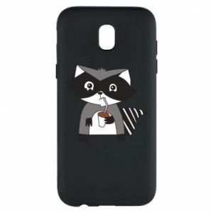 Etui na Samsung J5 2017 Embarrassed raccoon with glass