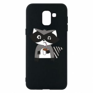 Etui na Samsung J6 Embarrassed raccoon with glass