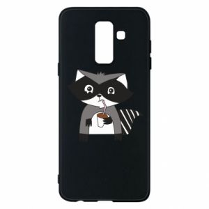 Etui na Samsung A6+ 2018 Embarrassed raccoon with glass