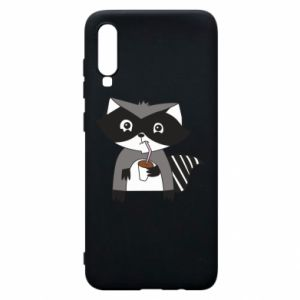 Etui na Samsung A70 Embarrassed raccoon with glass