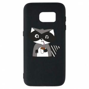 Etui na Samsung S7 Embarrassed raccoon with glass