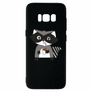Etui na Samsung S8 Embarrassed raccoon with glass