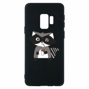 Etui na Samsung S9 Embarrassed raccoon with glass