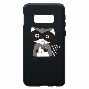 Etui na Samsung S10e Embarrassed raccoon with glass