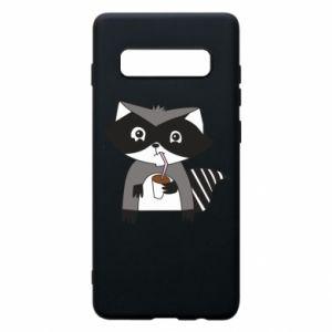 Etui na Samsung S10+ Embarrassed raccoon with glass