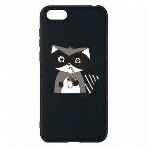 Etui na Huawei Y5 2018 Embarrassed raccoon with glass