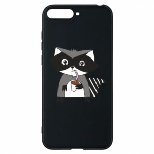 Etui na Huawei Y6 2018 Embarrassed raccoon with glass