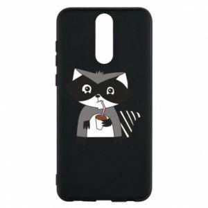 Etui na Huawei Mate 10 Lite Embarrassed raccoon with glass