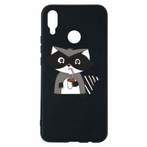 Etui na Huawei P Smart Plus Embarrassed raccoon with glass