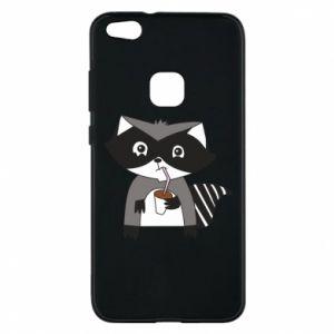 Etui na Huawei P10 Lite Embarrassed raccoon with glass