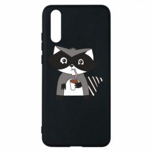 Etui na Huawei P20 Embarrassed raccoon with glass