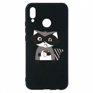 Etui na Huawei P20 Lite Embarrassed raccoon with glass
