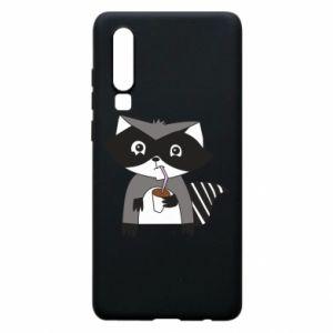 Etui na Huawei P30 Embarrassed raccoon with glass