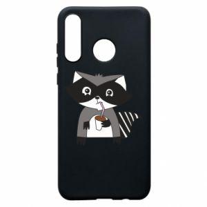 Etui na Huawei P30 Lite Embarrassed raccoon with glass