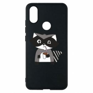 Etui na Xiaomi Mi A2 Embarrassed raccoon with glass
