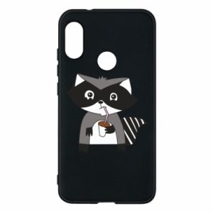 Etui na Mi A2 Lite Embarrassed raccoon with glass