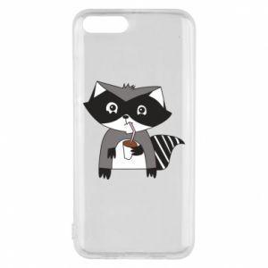 Etui na Xiaomi Mi6 Embarrassed raccoon with glass