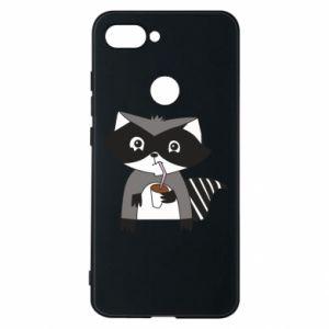 Etui na Xiaomi Mi8 Lite Embarrassed raccoon with glass
