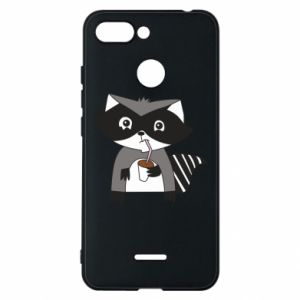 Etui na Xiaomi Redmi 6 Embarrassed raccoon with glass