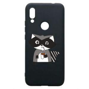 Etui na Xiaomi Redmi 7 Embarrassed raccoon with glass