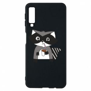 Etui na Samsung A7 2018 Embarrassed raccoon with glass