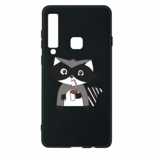Etui na Samsung A9 2018 Embarrassed raccoon with glass