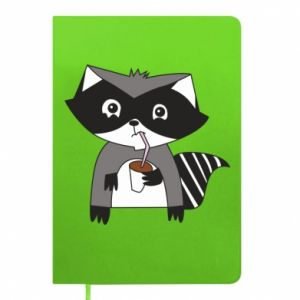 Notes Embarrassed raccoon with glass