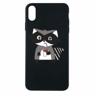 Etui na iPhone Xs Max Embarrassed raccoon with glass