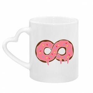 Kubek z uchwytem w kształcie serca Endless donut