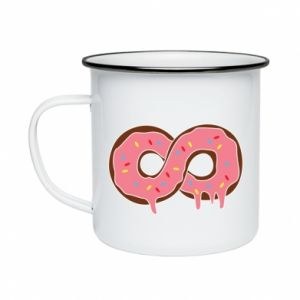 Enameled mug Endless donut - PrintSalon