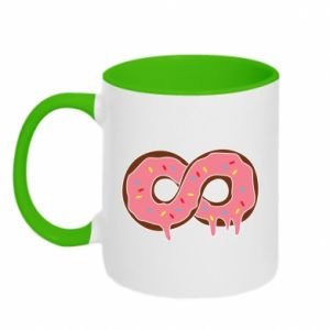 Two-toned mug Endless donut - PrintSalon