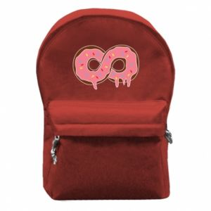 Backpack with front pocket Endless donut - PrintSalon