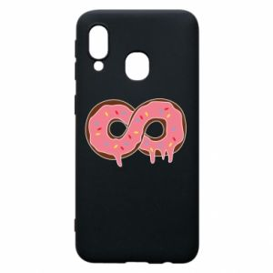 Phone case for Samsung A40 Endless donut - PrintSalon