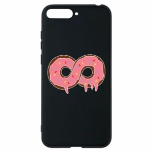 Phone case for Huawei Y6 2018 Endless donut - PrintSalon