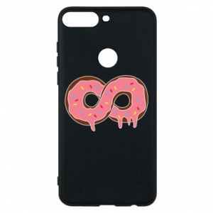 Phone case for Huawei Y7 Prime 2018 Endless donut - PrintSalon