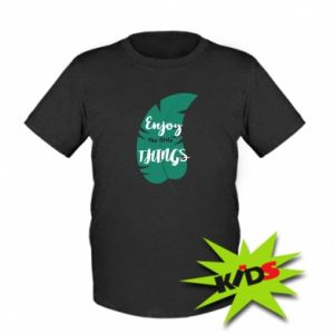 Dziecięcy T-shirt Enjoy the tittle things