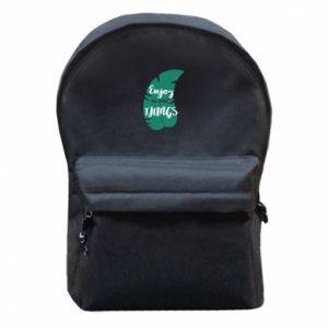 Plecak z przednią kieszenią Enjoy the tittle things