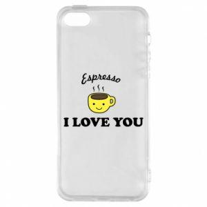 Etui na iPhone 5/5S/SE Espresso. I love you