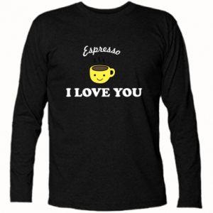 Koszulka z długim rękawem Espresso. I love you